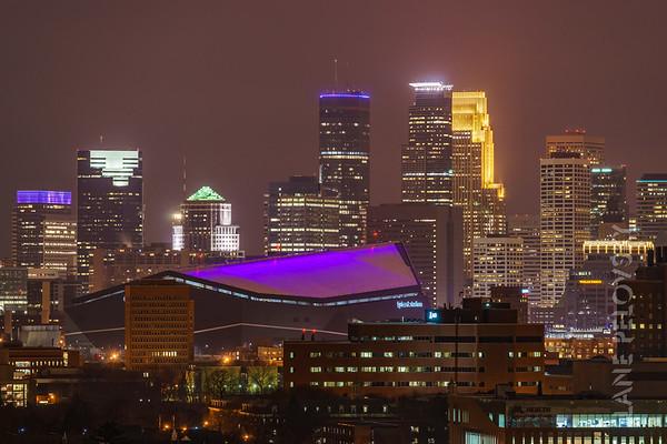 Minneapolis - Skyline from Dinkytown
