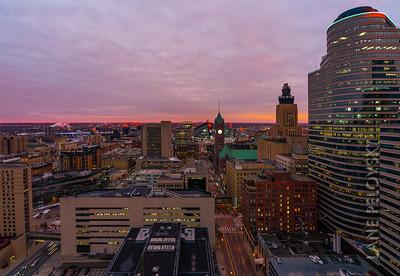 Minneapolis East Town Sunset