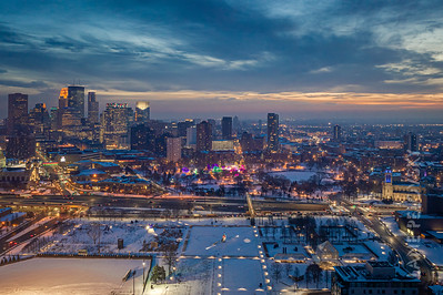 Sculpture Garden Aerial View - Christmas in Minneapolis