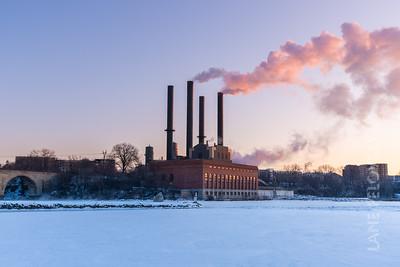 Polar Vortex - Mississippi Power Stacks