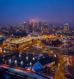 Foggy Minneapolis