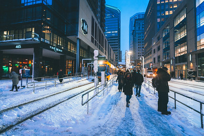 Light Rail in Winter