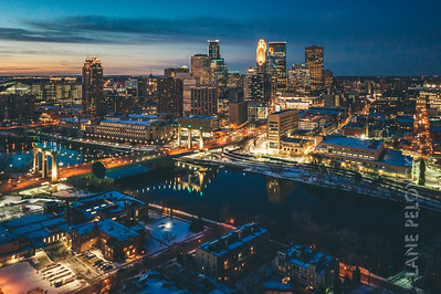 Minneapolis and the Mississippi in the Winter