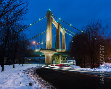 Hennepin Ave Bridge - Light Trails