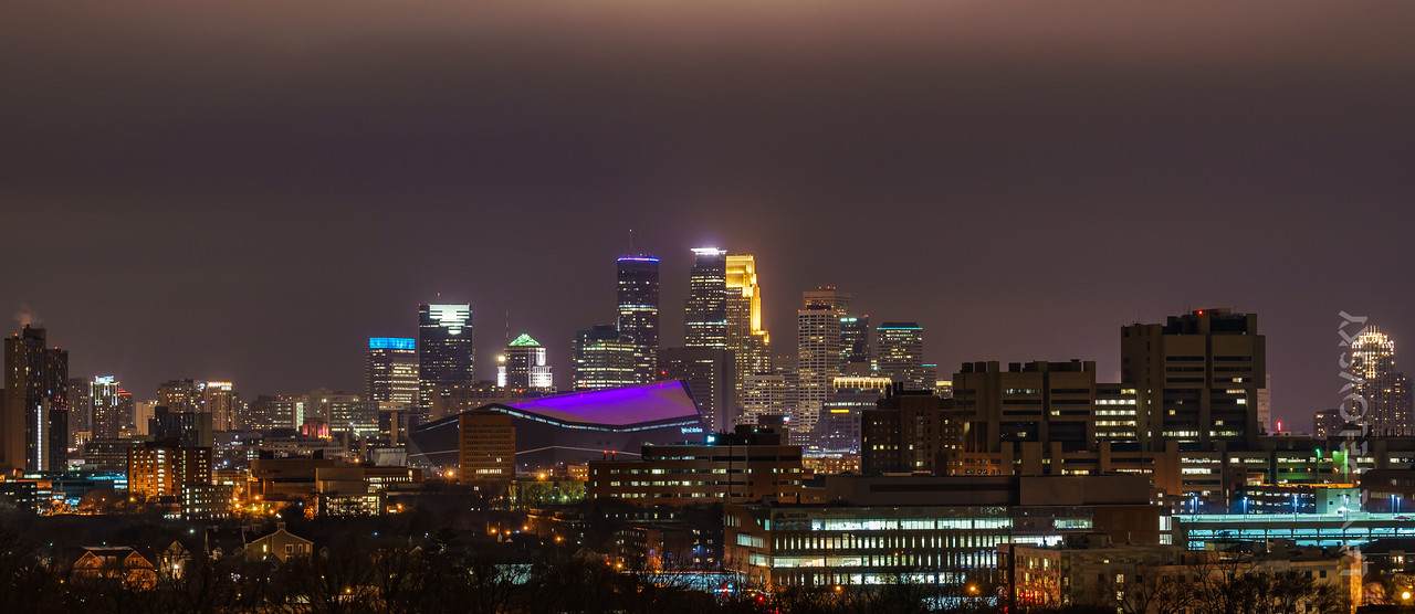 Minneapolis - Skyline from Dinkytown