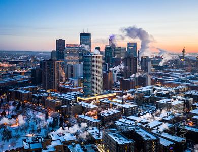 Winter Vortex In Minneapolis