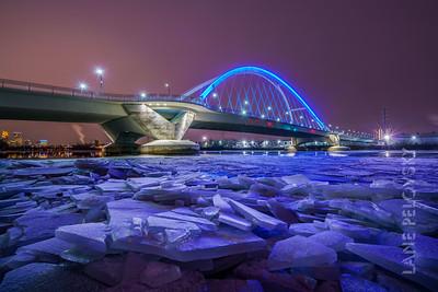 Mississippi Ice at Lowry Ave Bridge
