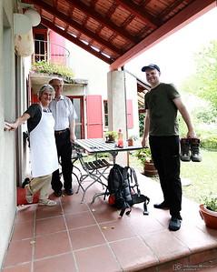 Yves Bolognini avec ses parents - Marche des 10 ans du Musée Bolo - EPFL-->Collex-Bossy - 25 août 2012