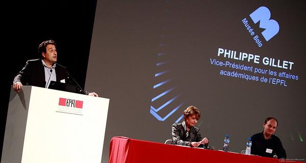 Philippe Gillet - Inauguration du Musée Bolo - EPFL - Lausanne - 9 novembre 2011