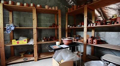 Le premier stock de machines d'Yves Bolognini - Marche des 10 ans du Musée Bolo - EPFL-->Collex-Bossy - 25 août 2012