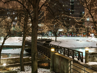 Snow and Lights at  Gene Leahy Mall Part 1