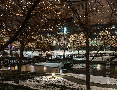 Snow and Lights at  Gene Leahy Mall Part 2