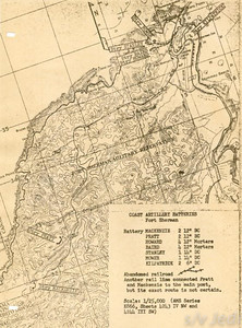 US Army document World War I Fortifications of the Panama Canal - Coast Artillery Batteries --Fort Sherman