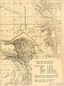 US Army document World War I Fortifications of the Panama Canal - Coast Artillery Batteries --Colon and Fort Randolph