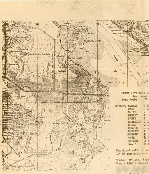 US Army document World War I Fortifications of the Panama Canal - Batteries BIRNEY and SMITH