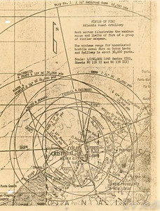 US Army document World War I Fortifications of the Panama Canal - Fields of Fire -- Atlantic Coast Artillery