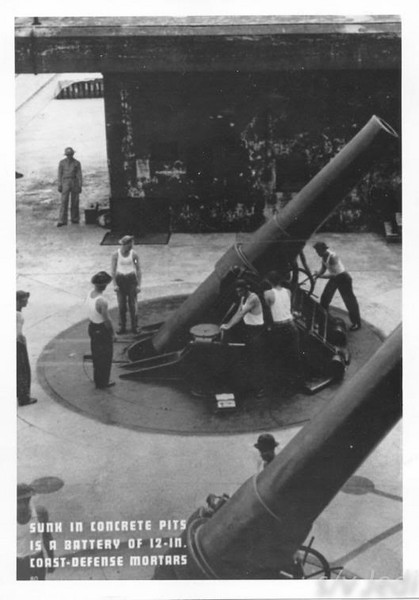 US Army document World War I Fortifications of the Panama Canal - Batteries MERRITT, PRINCE, and CARR -- 1939