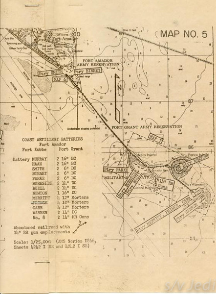US Army document World War I Fortifications of the Panama Canal - Coast Artillery Batteries --Fort Amador,Fort Grant, and Fort Kobbe
