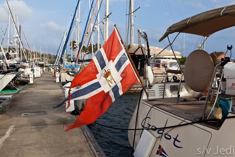 Pretty day in Shelter Bay Marina.