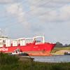 Ship approaching Panama canal.