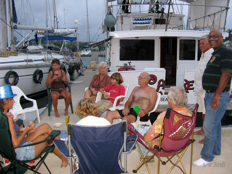 Nick's birthday<br /> The famous circel of chairs on the dock.