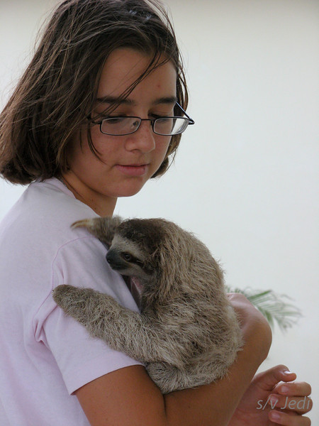 IMG_1432.JPG<br /> Kendall and her pet sloth