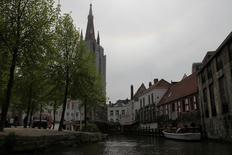 On a boat ride through the canals