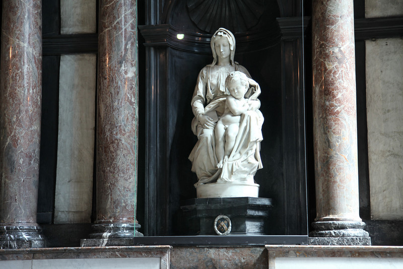 The Madonna, by Michelangelo, one of the few Michelangelo statues outside of Italy