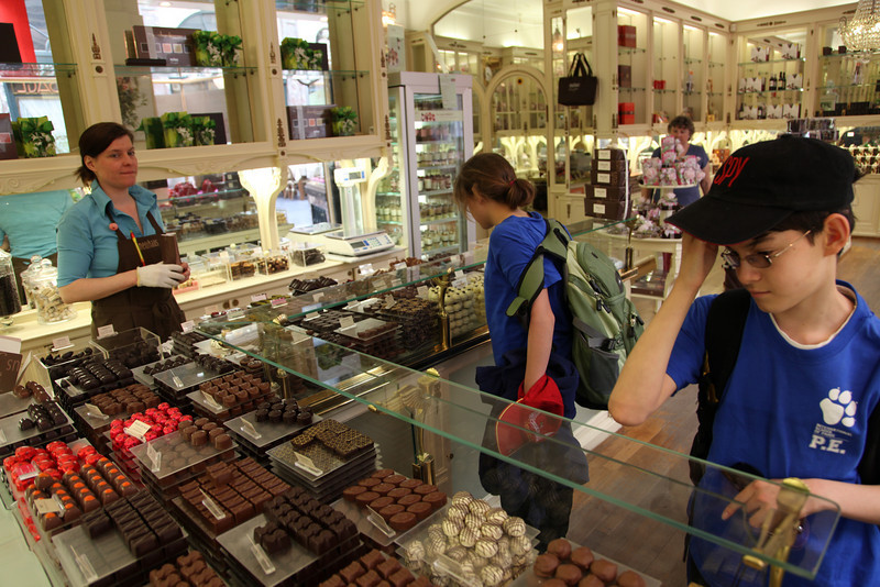Our Belgium visit was largely about chocolat