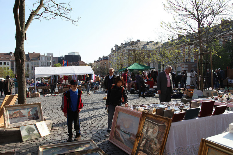 Wednesday morning flea market in Brussels