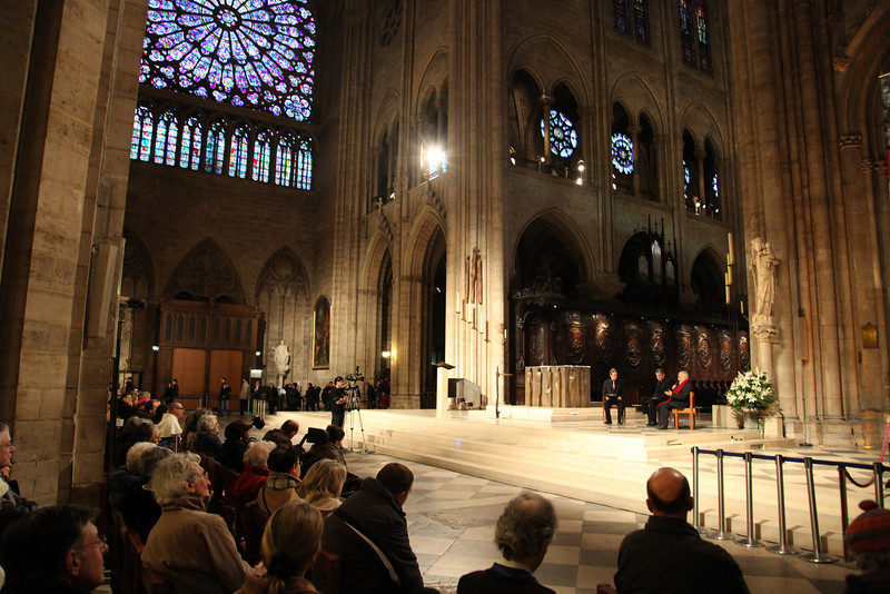 There was a q&a session with a group of ministers in Notre Dame.