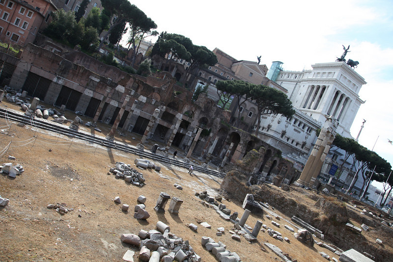 "The ""Forum"".  A large, bustling business district during the Roman period."