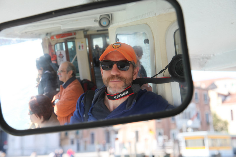 On the commuter boat, along the Grand Canal, back to the train station