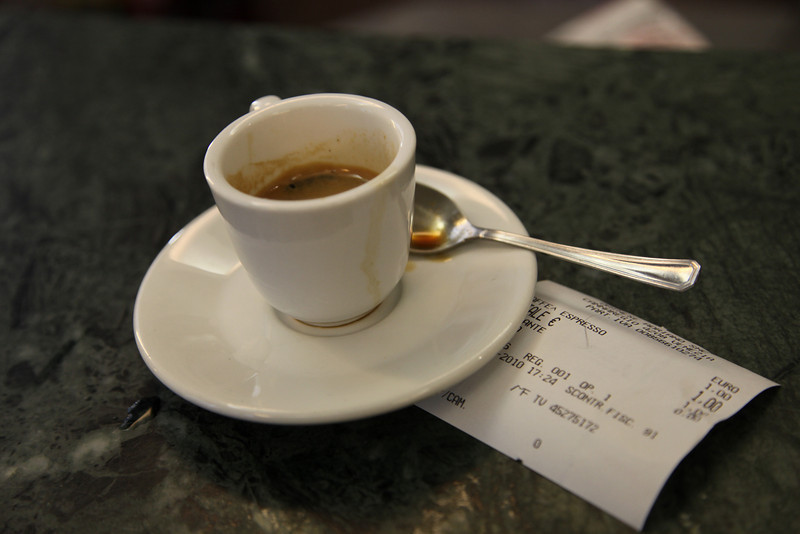"""I'm getting used to these (all over Europe).  Hearing my accent, sometimes they confirm that I really want a """"café"""", and not an""""American café."""""""