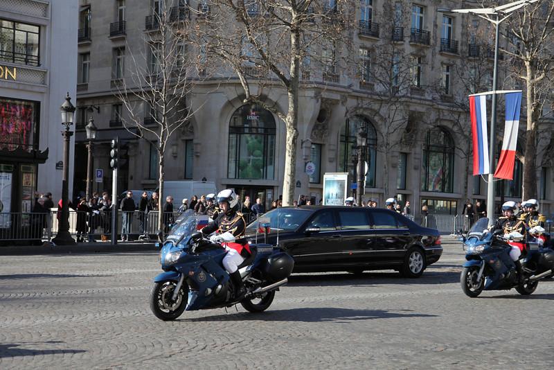 Medvedev's motorcade.