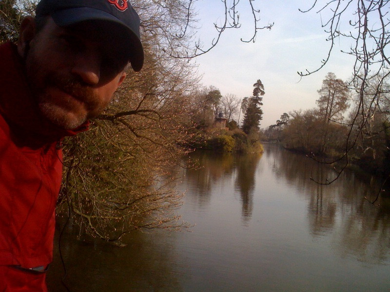 iPhone pic, near the end of a run, at the Southern tip of the lake in Bois de Boulonge