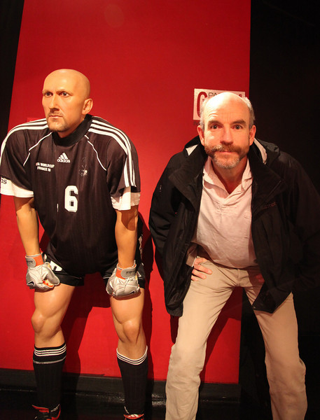 with former National team goalkeeper, Fabien Barthez