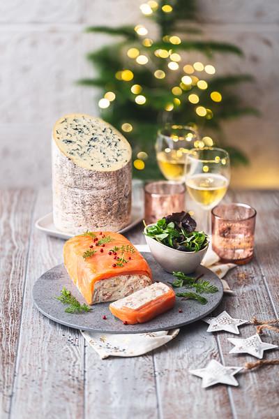 AOP Fourme d'Ambert - Terrine saumon/Fourme d' Ambert