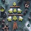 Kumiko Matcha- Sablés en sapin de Noël au Thé Matcha