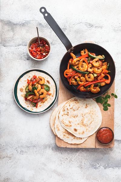 Old El Paso - Fajitas de crevettes aux Poivrons