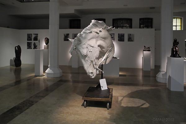 Molde de resina de la cabeza del caballo del monumento ecuestre del general Martínez Campos que se encuentra en el parque del Retiro madrileño, obra de Mariano Benlliure, inaugurado el 28 de enero de 1907.