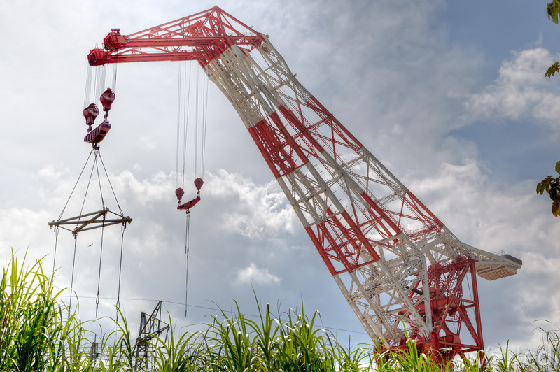 Crane barge Titan. - The Titan at it's mooring in Gamboa, Panama, is one of the world's largest cranes.