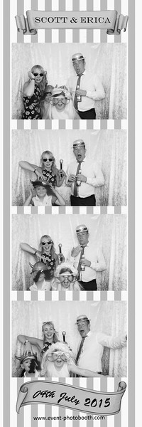 Hereford Photo booth (event-photobooth) capturing the funny moments from Ericas and Scotts wedding!