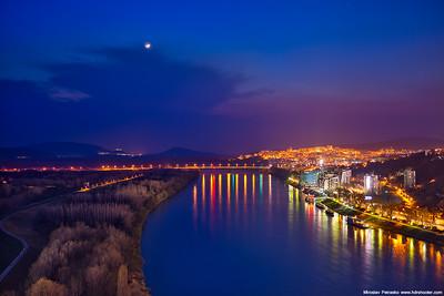 Moon over Bratislava