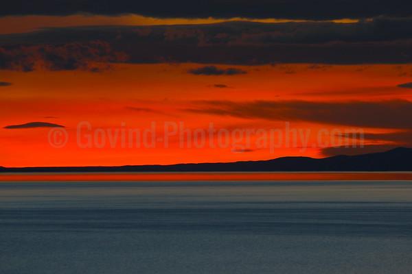 Sunset at Antelope Islands