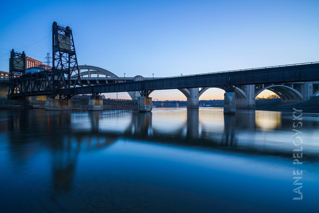 St. Paul - Bridges Across the Mississippi - Dusk