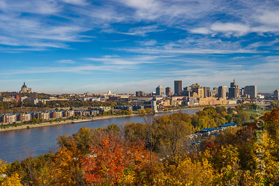 St. Paul and the Mississippi in the Fall