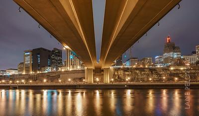 Wabasha Street Bridge over the Mississippi River.