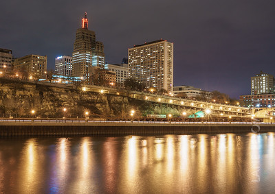 Mississippi Water's Edge, First National Bank Building and St. Paul