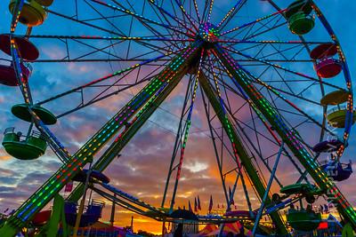 Ferris Wheel and Sunset